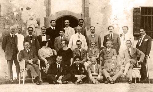 1927-es találkozóról készült kép